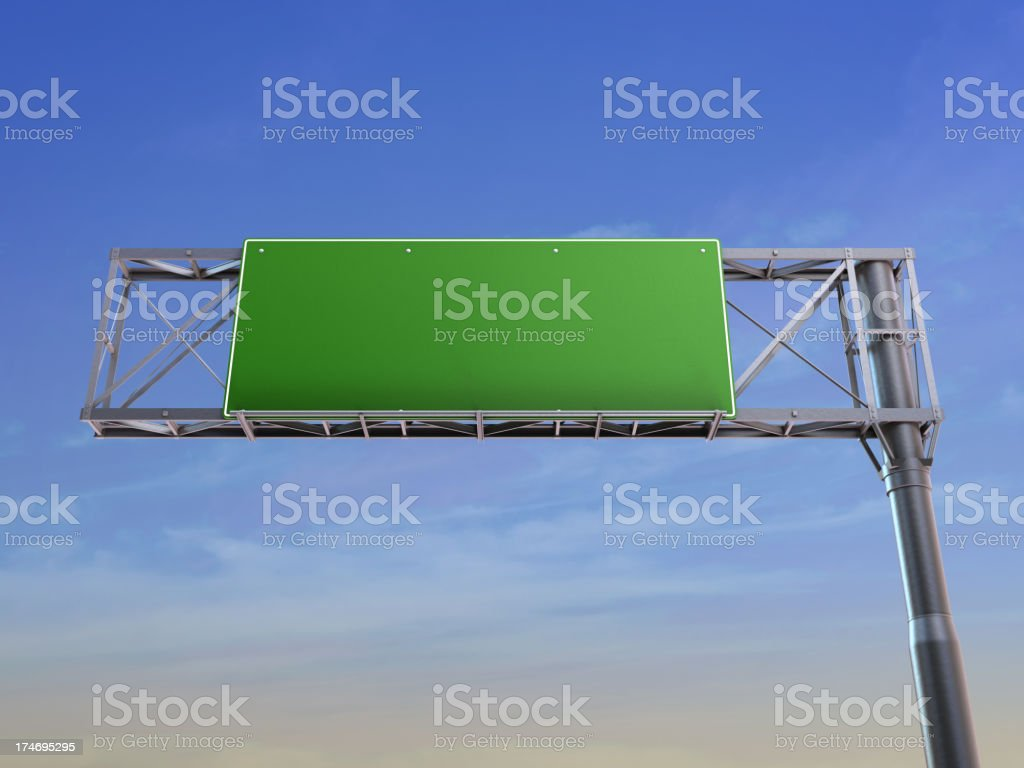 Empty highway sign with copy space stock photo