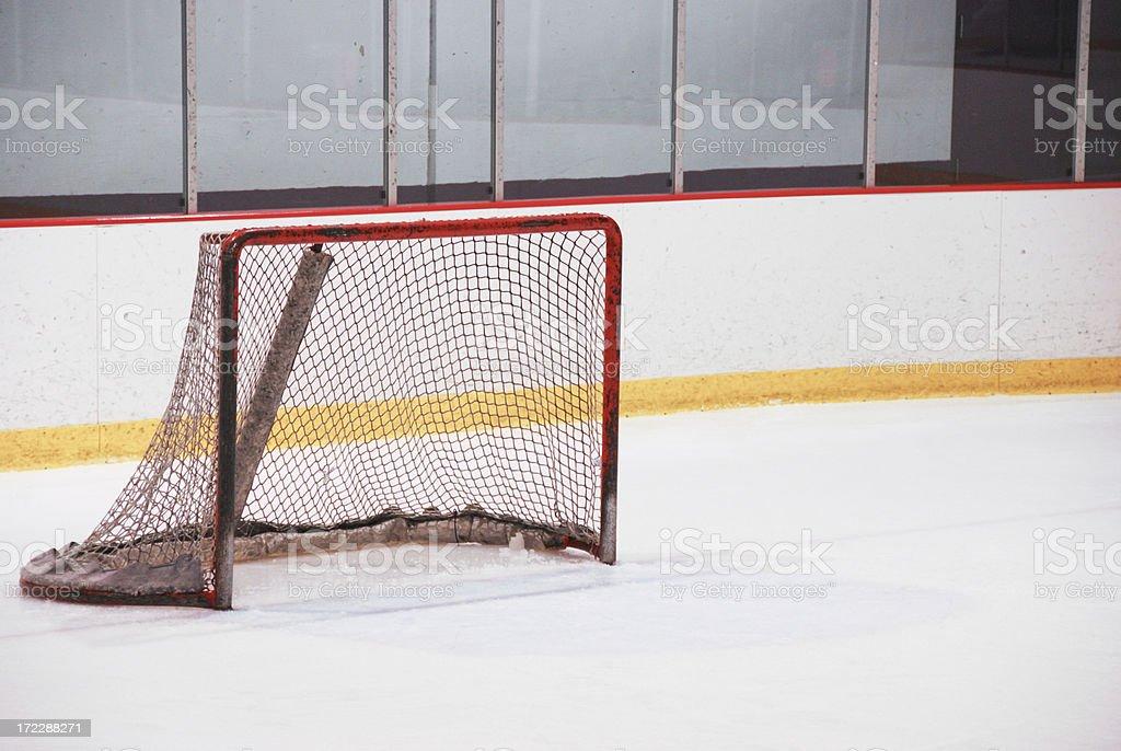 Empty Hockey Net royalty-free stock photo