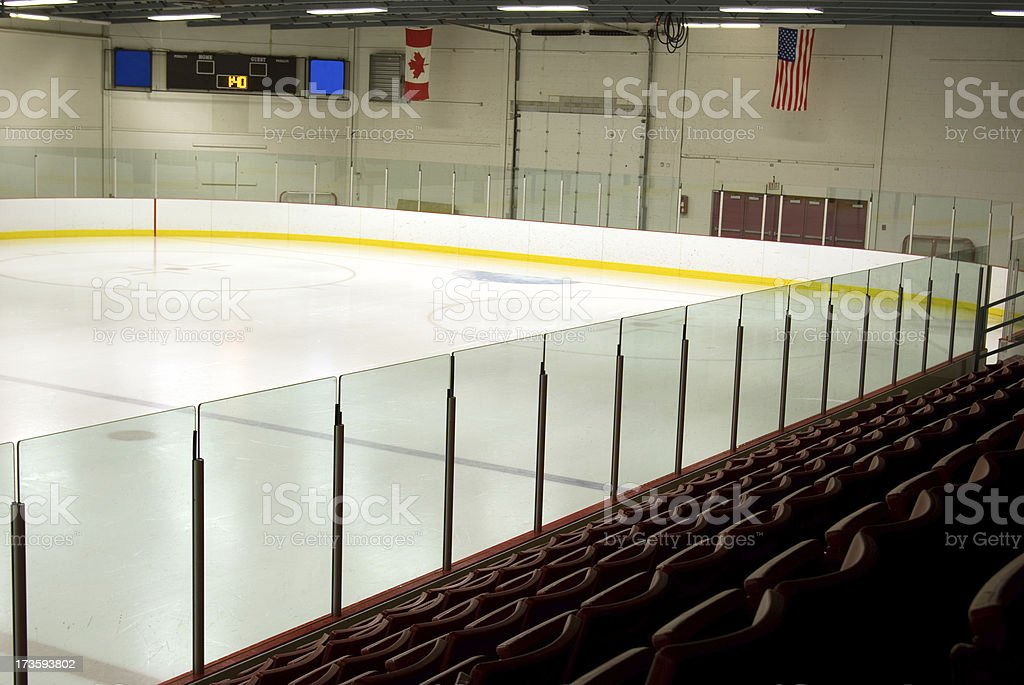 Empty Hockey Rink royalty-free stock photo