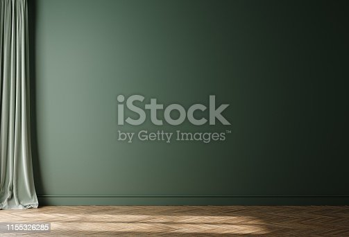 Empty home interior wall mock-up, 3d render