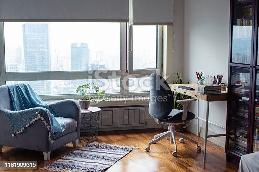 istock Empty home office 1181909315