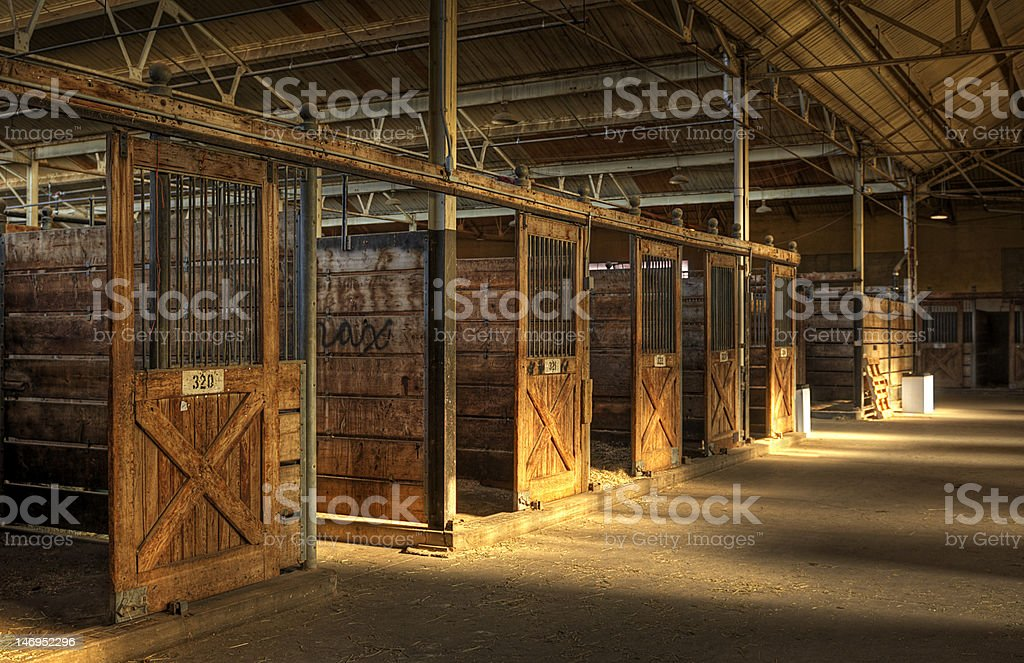 Empty Horse Barn stock photo