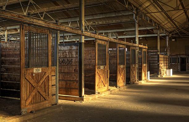 Empty Horse Barn stock photo