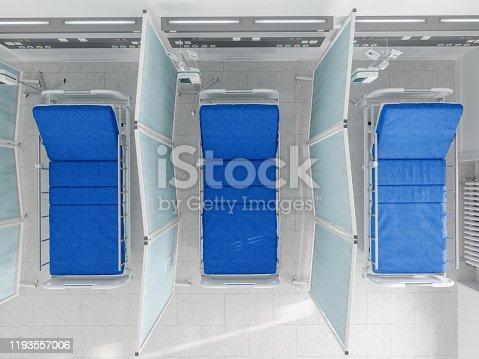 istock Empty Hospital Bed, Overhead View 1193557006
