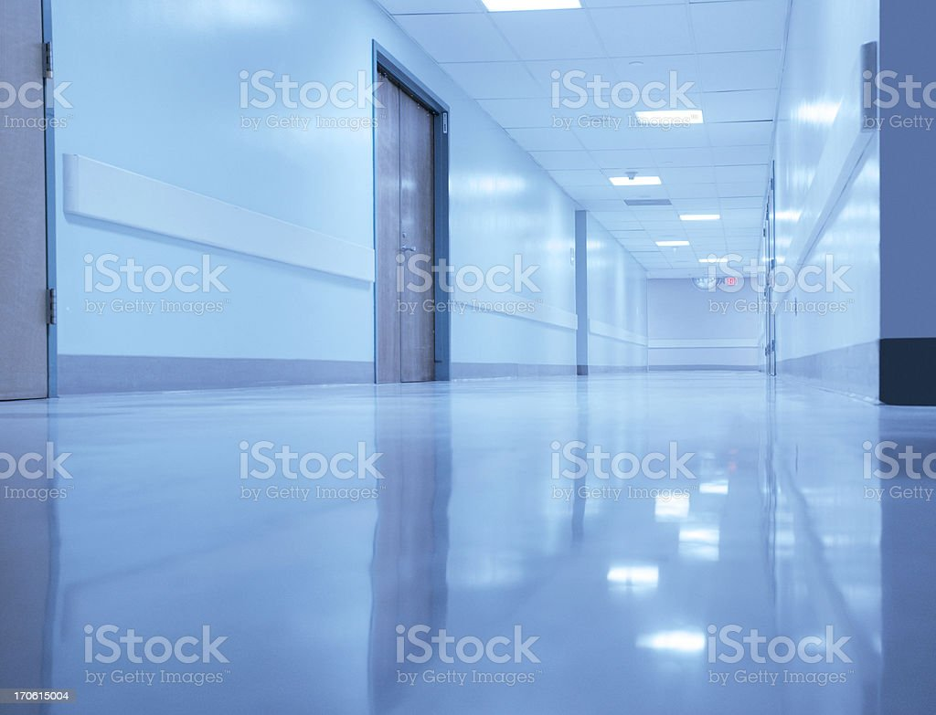 Empty Hospital Hallway royalty-free stock photo