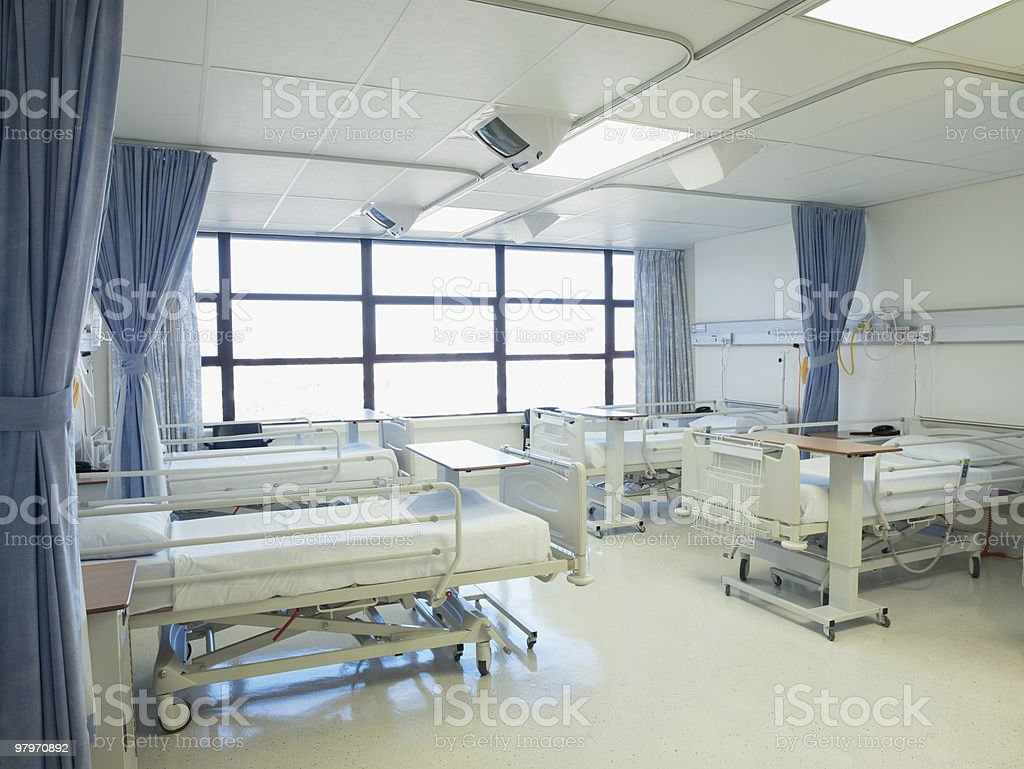 Empty hospital room with beds royalty-free stock photo