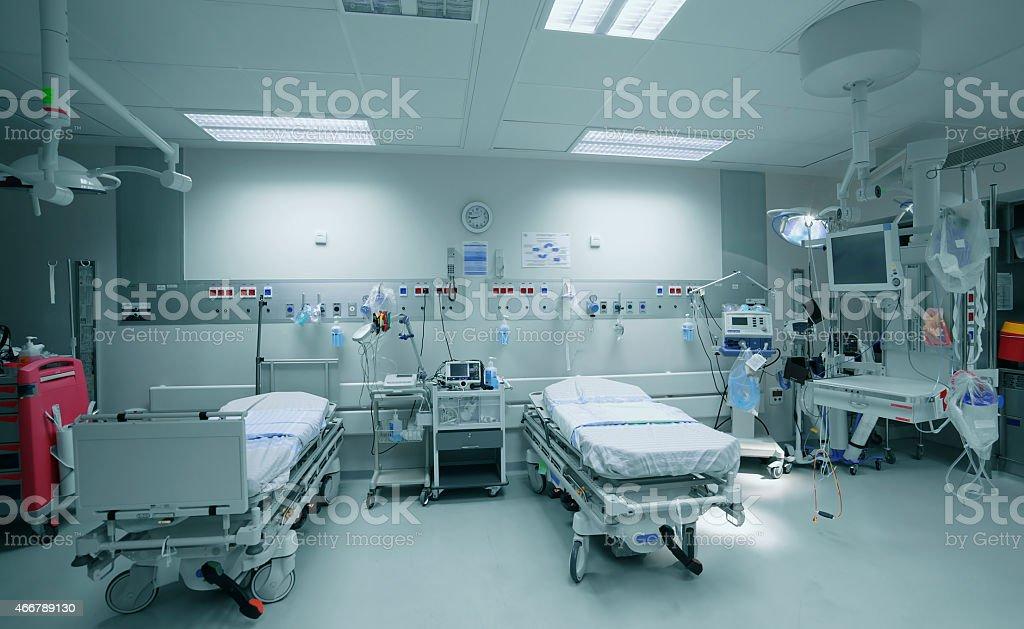 Empty hospital ward stock photo