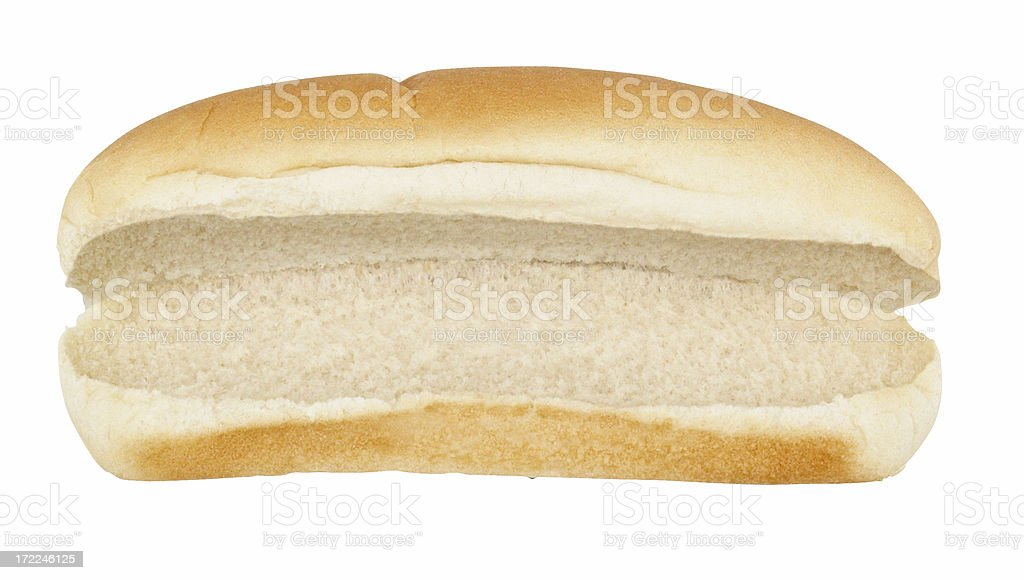 Empty Hot Dog Bun stock photo