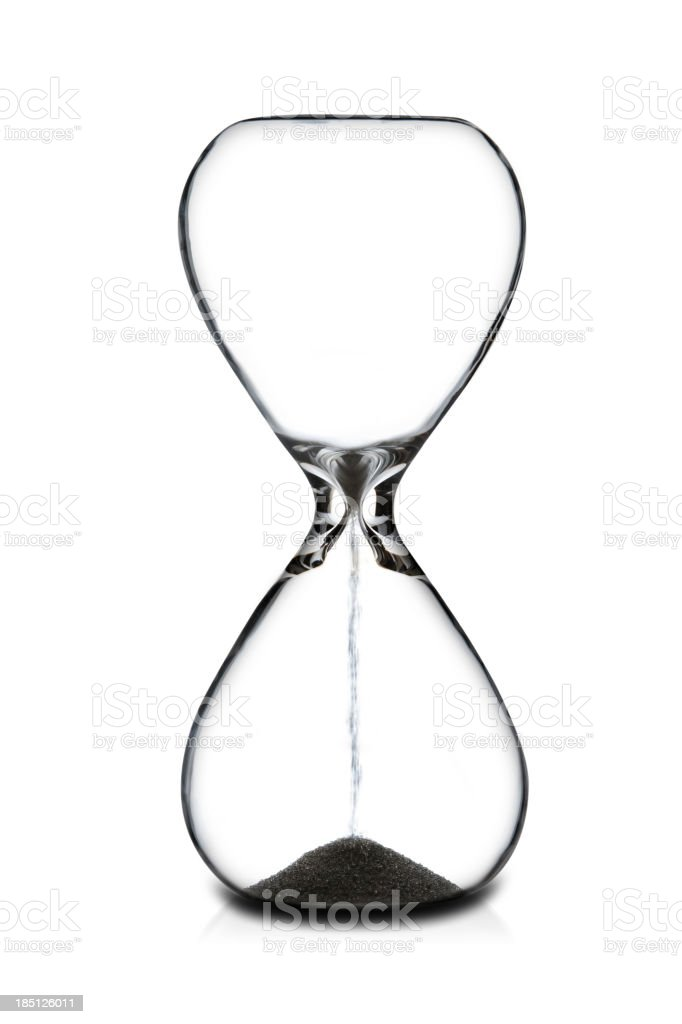 Empty Hourglass royalty-free stock photo
