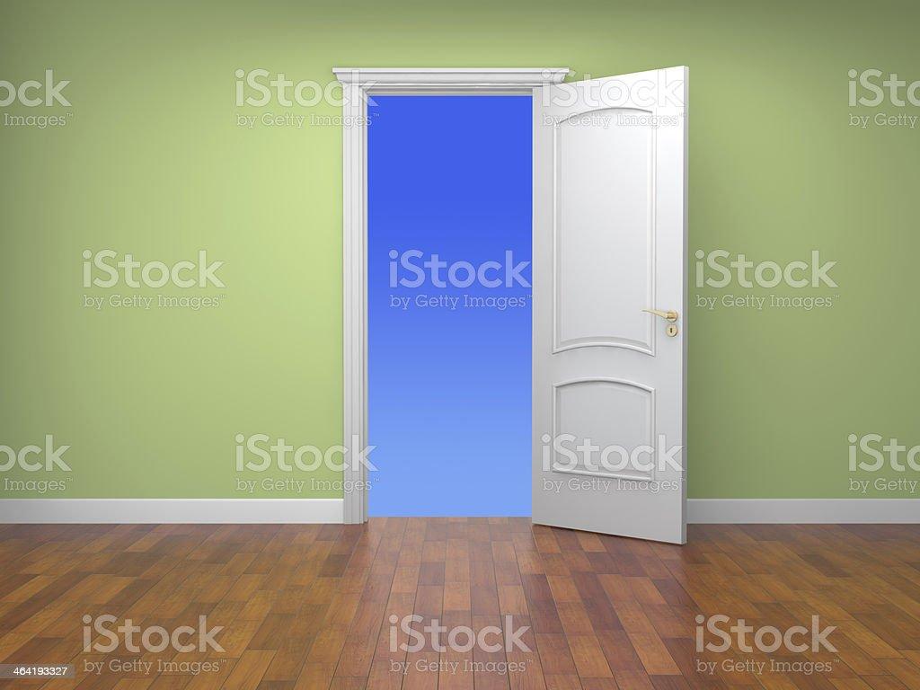 empty house and white door royalty-free stock photo