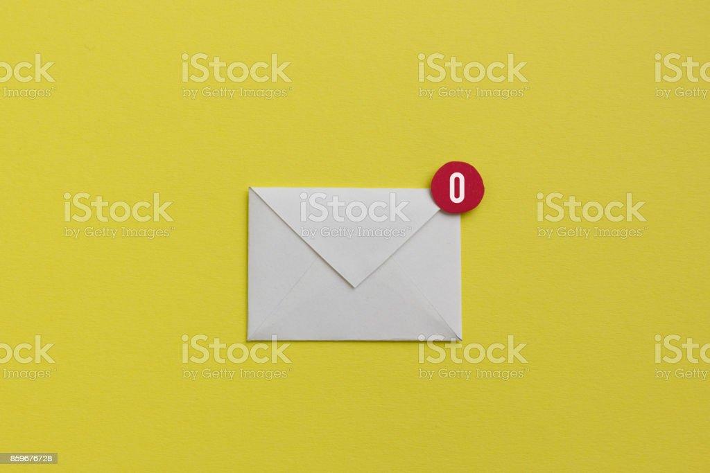 Empty inbox - zero emails stock photo