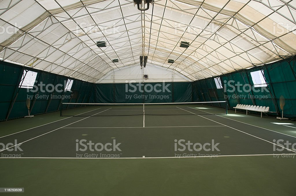 Empty indoor tennis court, Turkey, Istanbul royalty-free stock photo