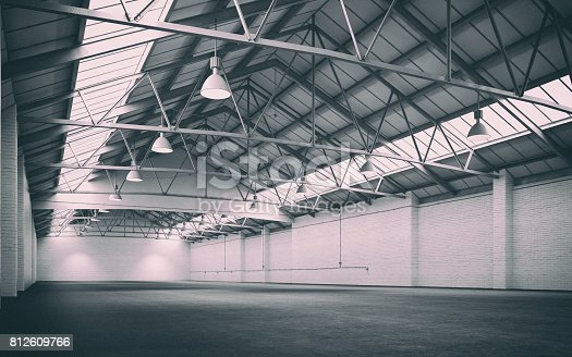 513948652 istock photo Empty industrial interior 812609766
