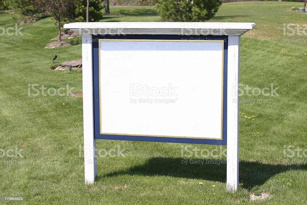 Empty information sign stock photo