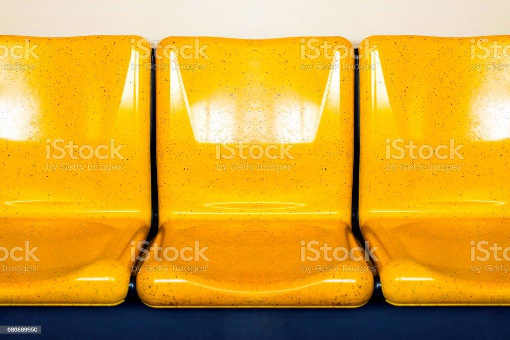 empty interior of electric train cabin. - foto de stock