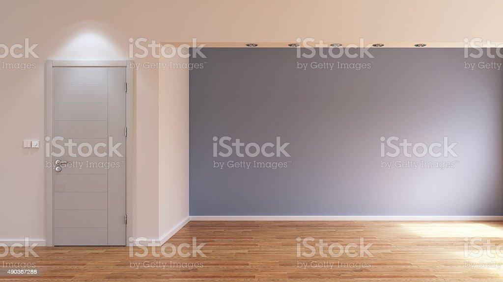 Empty interior room stock photo