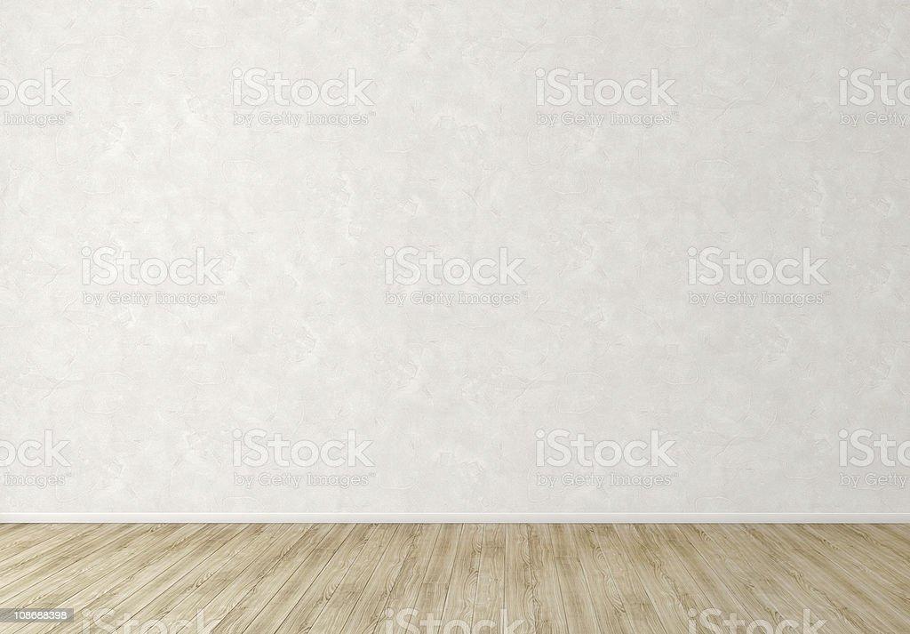 Leer Innenraum mit Weißer Stuck Wand – Foto