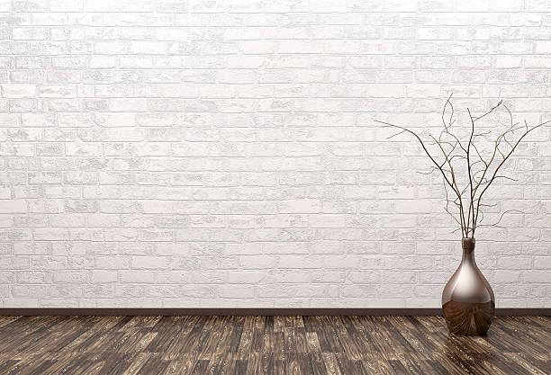 Empty interior with vase 3d rendering - Photo
