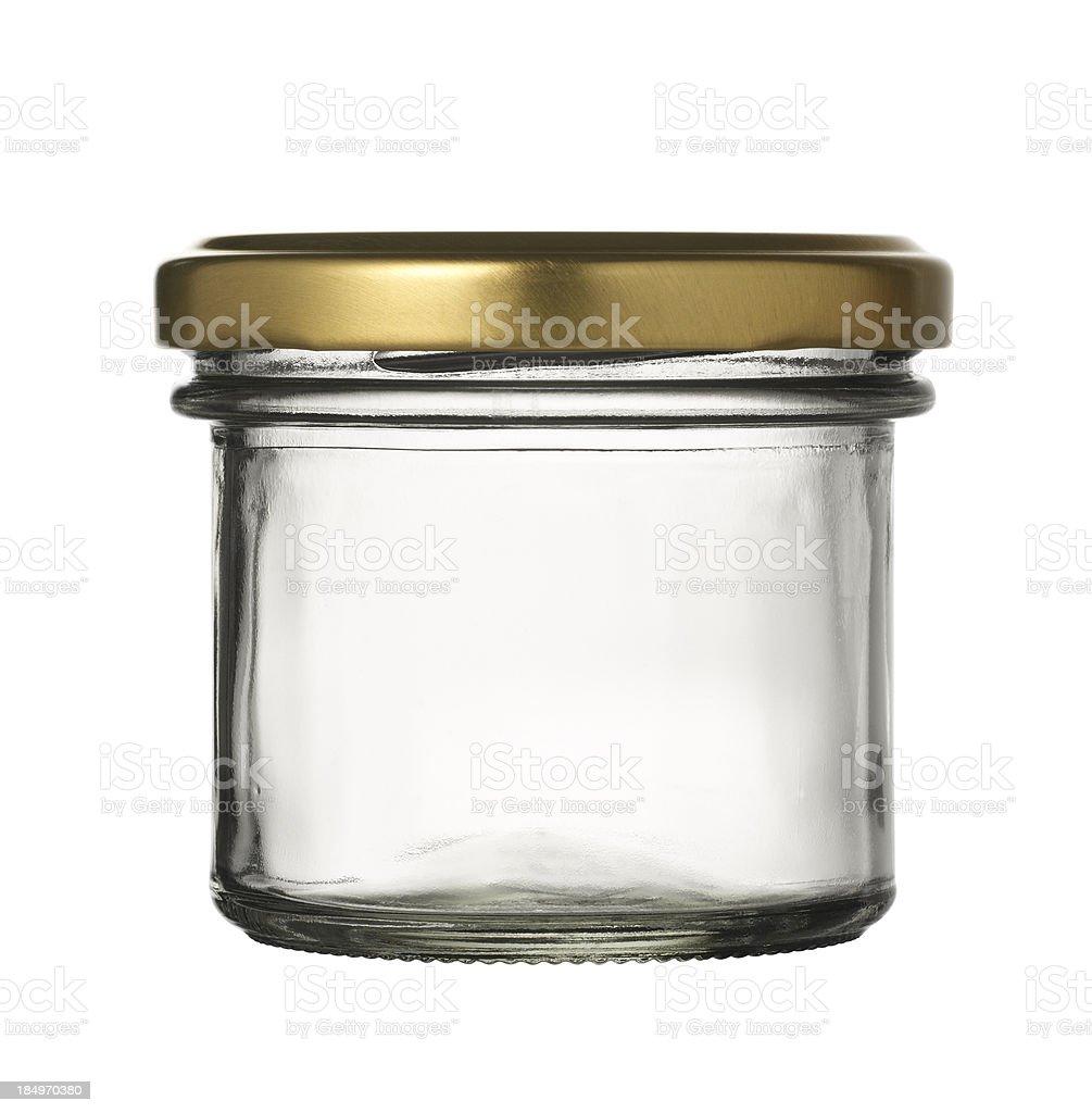Empty jar of caviar stock photo