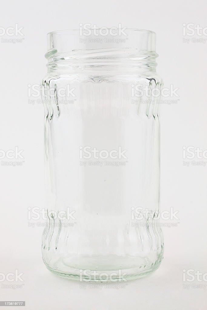 Empty jar royalty-free stock photo