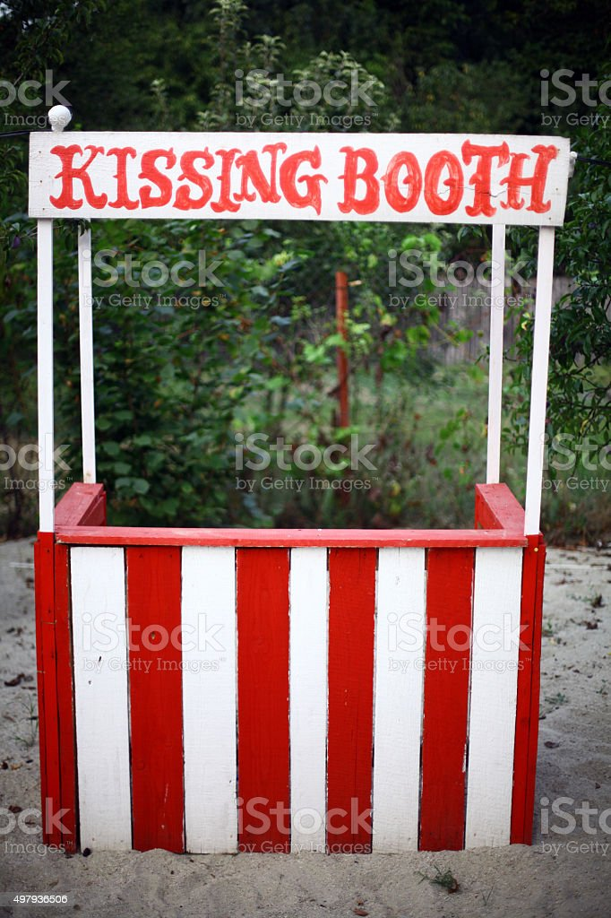 Empty kissing booth stock photo