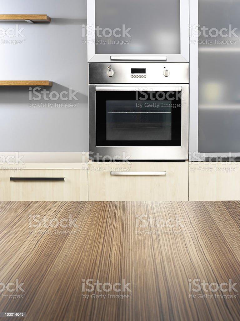 empty kitchen counter royalty-free stock photo
