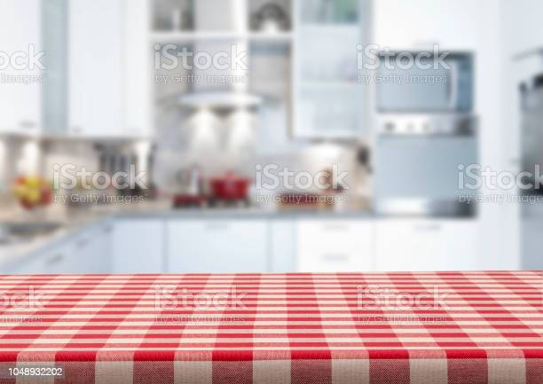 Empty kitchen countertop covered with red and white checkered picture id1048932202?b=1&k=6&m=1048932202&s=612x612&h=zwkfbg gocr0cmzj hcv0sbwkq ima5jt3vdrri93iw=