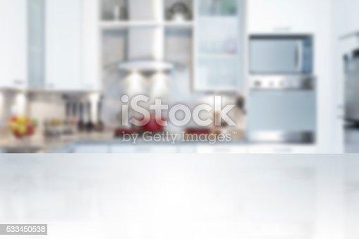 istock Empty kitchen countertop 533450538