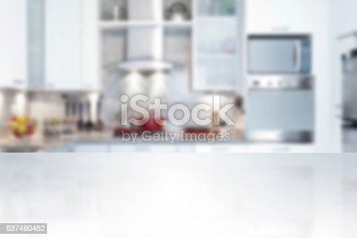 istock Empty kitchen countertop 537460452