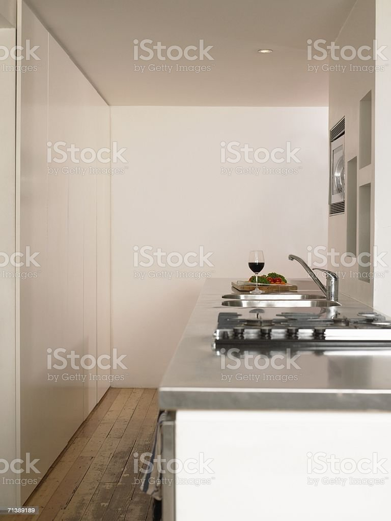 Empty kitchen royalty-free stock photo