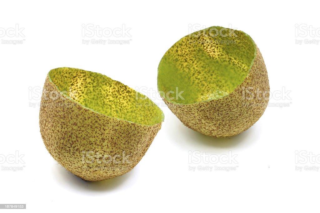 Empty kiwifruit royalty-free stock photo