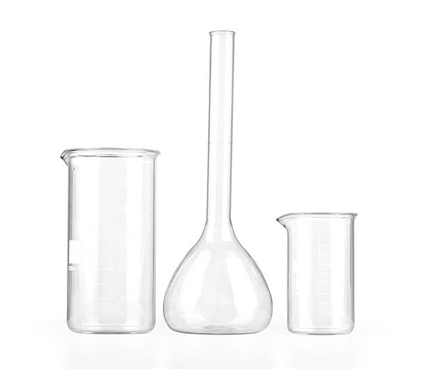 Empty laboratory glassware stock photo
