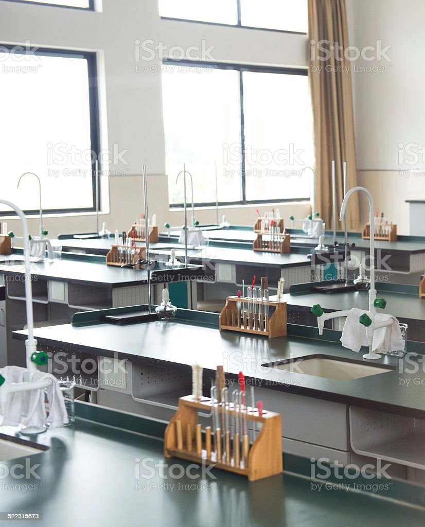 empty laboratory stock photo