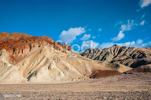 The desert mountains of Death Valley.