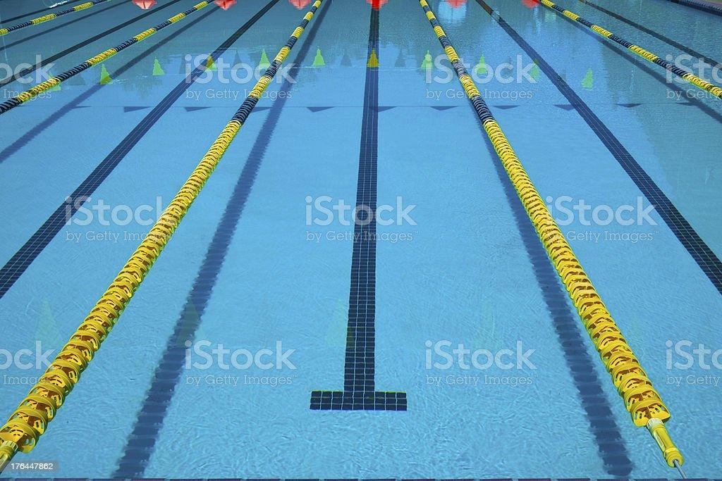 Empty Lap Pool stock photo