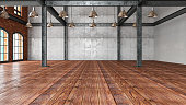 istock Empty Large Warehouse 1254421810