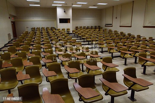 Empty Lecture Hall at a University