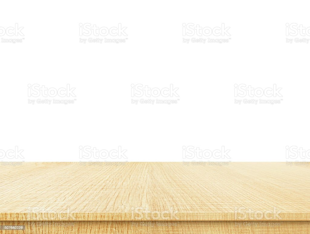 white wood table top. empty light wood table top isolate on white background royalty-free stock photo t