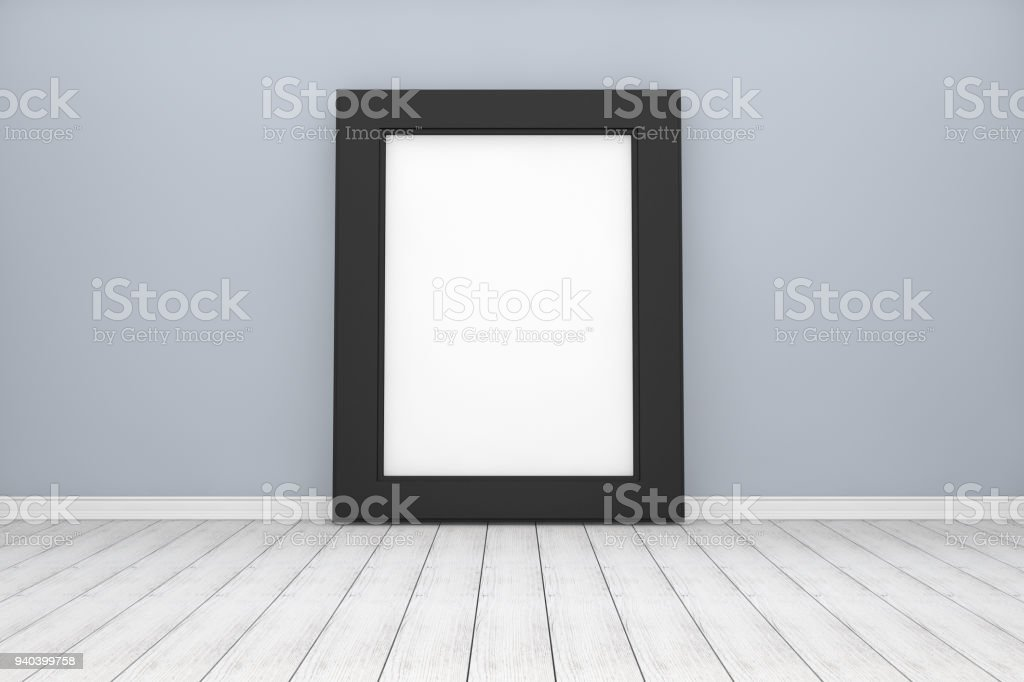 Empty Living Room With Blank Frame Royalty Free Stock Photo