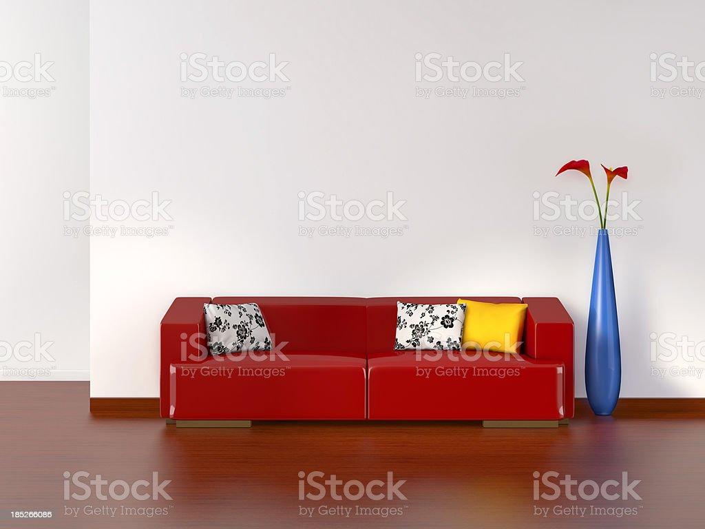 Empty living room with sofa stock photo