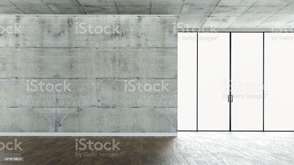 Empty Loft Apartment stock photo