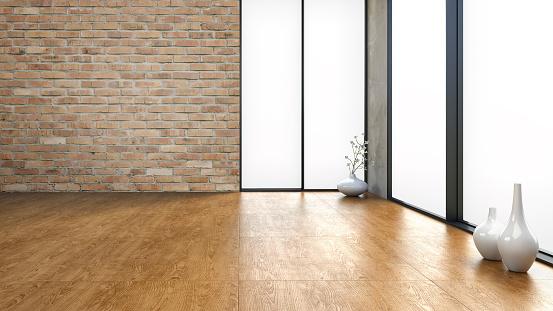 Empty Loft - Stock image