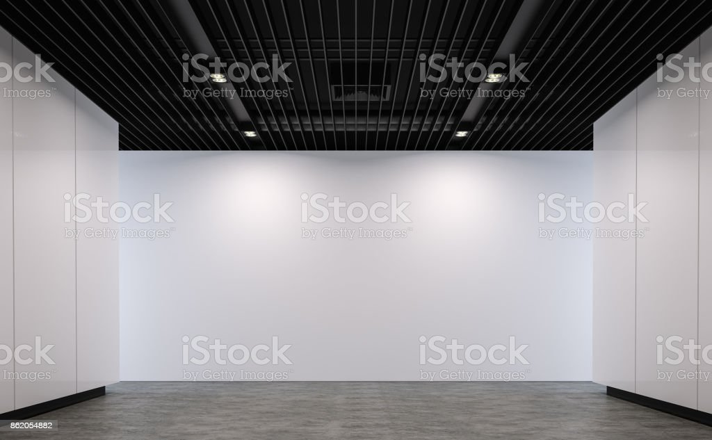 Empty loft style room modern space 3d rendering image stock photo