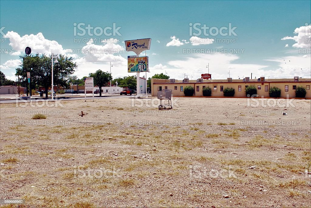 Empty Lot Along Route 66 stock photo