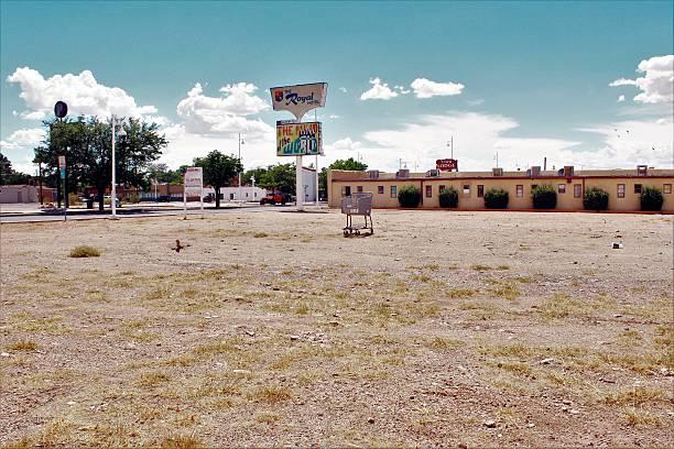 Empty Lot Along Route 66 stock photo