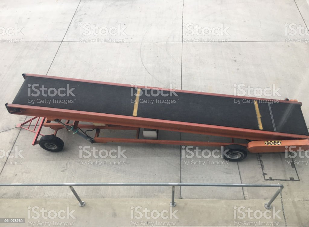 Empty luggage trolley - Royalty-free Aboard Stock Photo