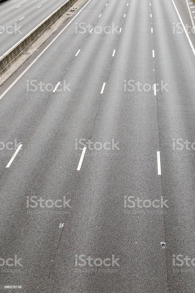 Empty M1 motorway UK stock photo