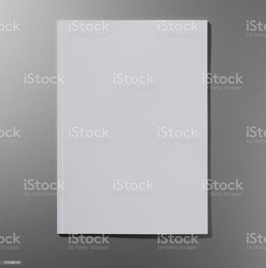 Empty magazine cover royalty-free stock photo
