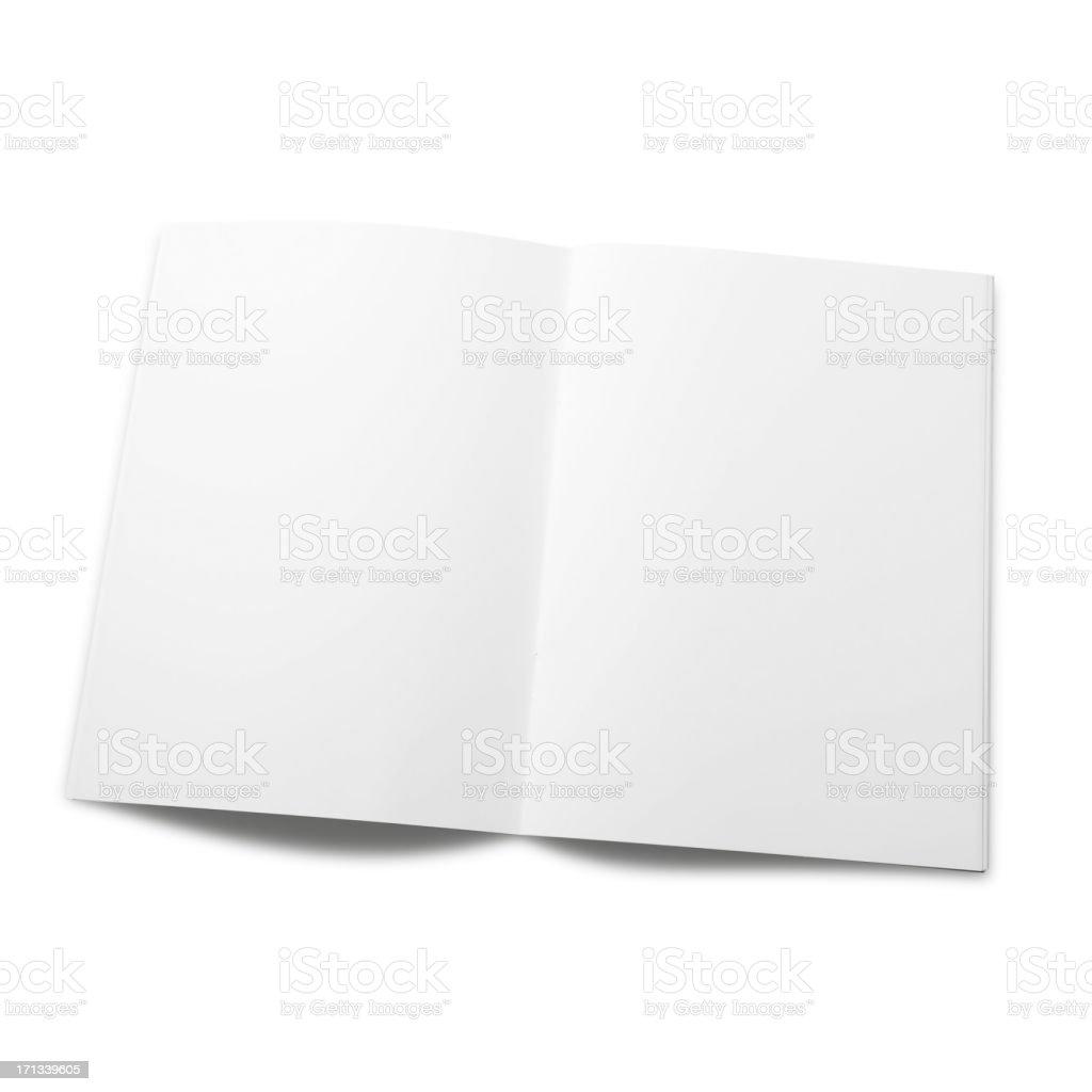 Empty magazine page stock photo
