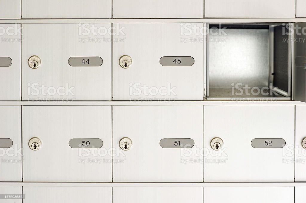 Empty Mail Box stock photo